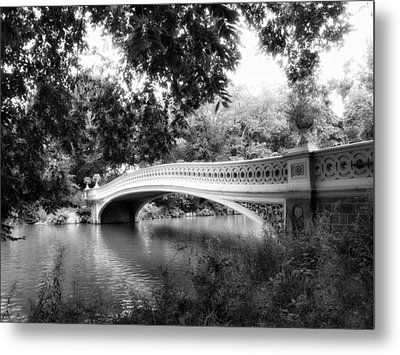 Bow Bridge In Black And White Metal Print by Jessica Jenney