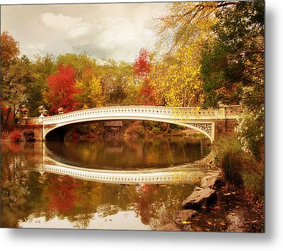 Metal Print featuring the photograph Bow Bridge Reflected by Jessica Jenney