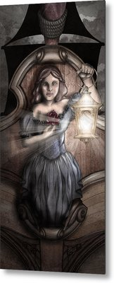 Bow Maiden Metal Print by April Moen