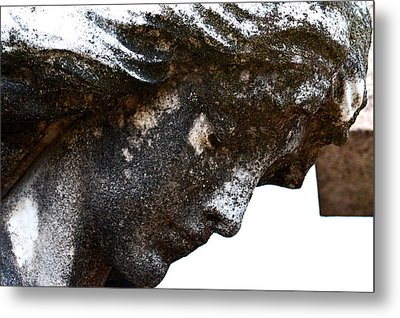 Bowed Head In Silence Metal Print