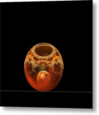 Bowl And Orb Metal Print by Richard Ortolano