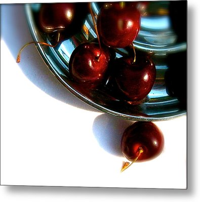 Bowl Of Cherries Metal Print by Tracy Male