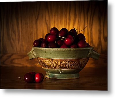 Metal Print featuring the photograph Bowl Of Cherries by Wayne Meyer