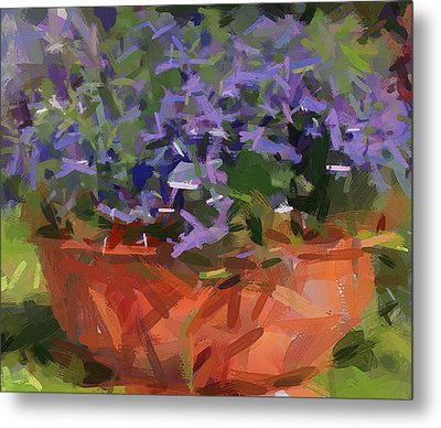 Bowl Of Flowers Metal Print by Yury Malkov