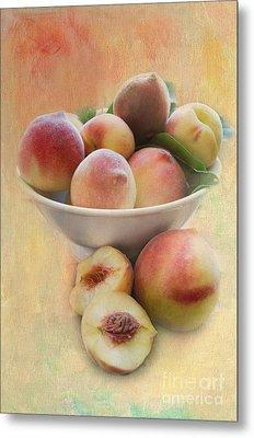 Bowl Of Peaches Metal Print
