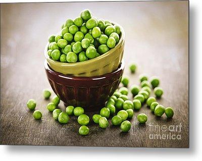 Bowl Of Peas Metal Print by Elena Elisseeva