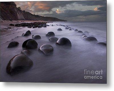 Bowling Ball Beach At Sunrise Metal Print by Keith Kapple
