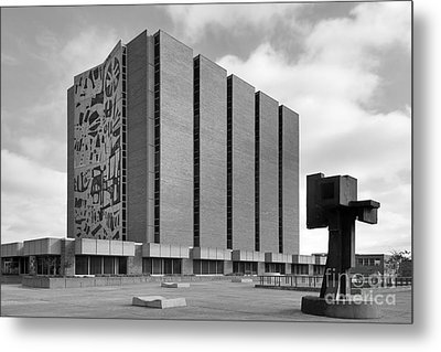 Bowling Green State University Jerome Library Metal Print by University Icons