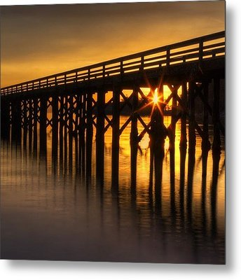 Bowman Bay Pier  #sunset Metal Print by Mark Kiver
