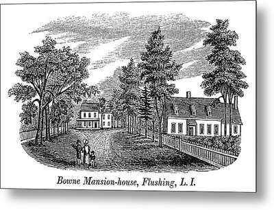 Bowne House, 1661 Metal Print