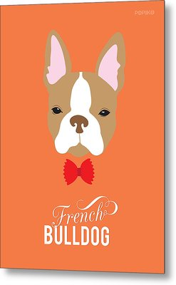 Bowtie Dogs Metal Print by Popiko Shop