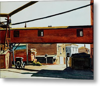 Box Factory Metal Print by Edward Hopper