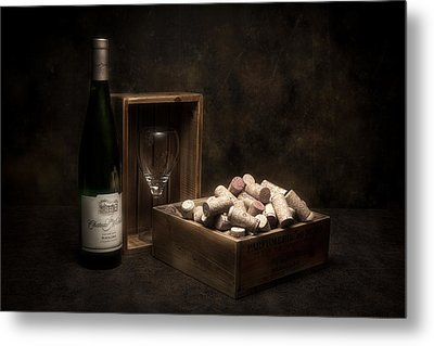 Box Of Wine Corks Still Life Metal Print by Tom Mc Nemar
