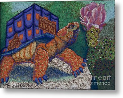 Box Turtle Metal Print by Tracy L Teeter