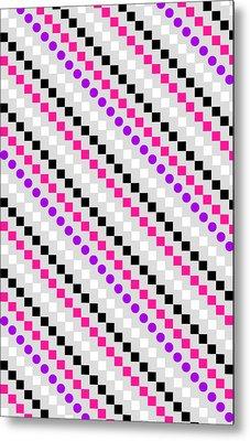 Boxed Stripe Metal Print by Louisa Hereford
