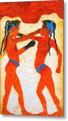 Boxer Boys Painting Metal Print by Antony McAulay