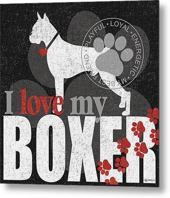 Boxer Metal Print by Kathy Middlebrook