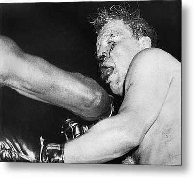 Boxer Near His Limit Metal Print by Underwood Archives