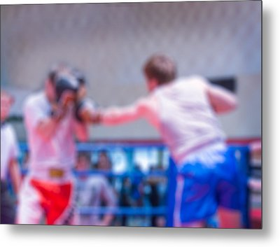 Boxing Blur Background Metal Print