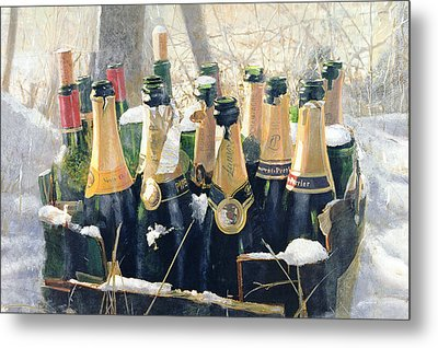 Boxing Day Empties Metal Print