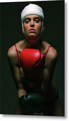 boxing Girl 2 Metal Print