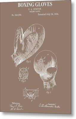 Boxing Gloves Illustration Metal Print