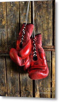 Boxing Gloves - Now Retired Metal Print by Paul Ward