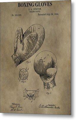Boxing Gloves Patent Metal Print