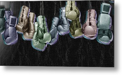 Boxing Gloves Metal Print by Tony Rubino