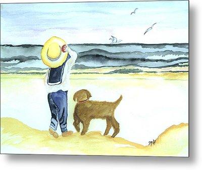 Boy And His Dog Metal Print by Marsha Heiken