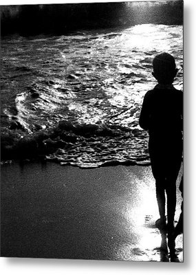 Metal Print featuring the photograph Boy By The Sea by Estate of Frank Dohnalek