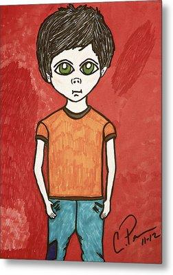 Boy Metal Print by Chrissy  Pena