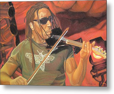 Boyd Tinsley At Red Rocks Metal Print by Joshua Morton