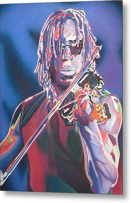 Boyd Tinsley Colorful Full Band Series Metal Print