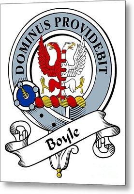 Boyle Clan Badge Metal Print by Heraldry
