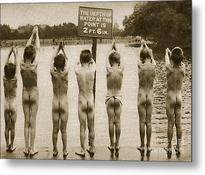 Boys Bathing In The Park Clapham Metal Print