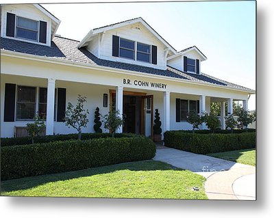 Br Cohn Winery In The Sonoma California Wine Country 5d24615 Metal Print by Wingsdomain Art and Photography