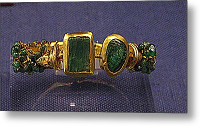 Bracelet With Emeralds Metal Print by Andonis Katanos