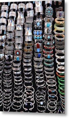 Bracelets At Anjuna Market Metal Print by Robert Preston
