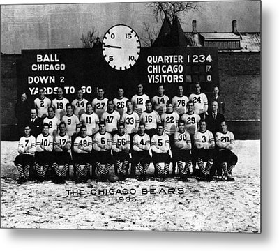 Chicago Football 1935 Metal Print by Retro Images Archive