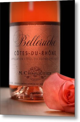 Brail Wine Label Metal Print by Dennis James