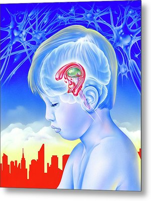Brain And Childhood Depression Metal Print