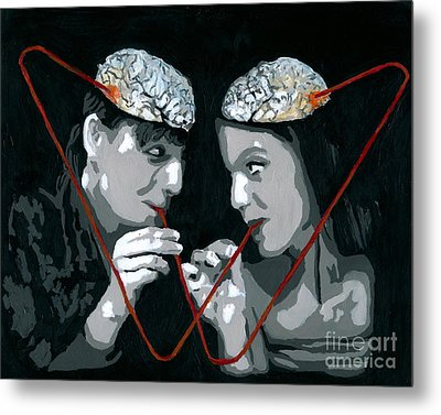 Metal Print featuring the painting Brain Food by Denise Deiloh