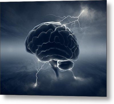 Brainstorm Metal Print by Johan Swanepoel