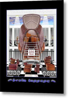 Brain Luggage Metal Print