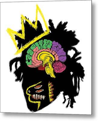Brainchild The Creative Mind - Basquiat Metal Print