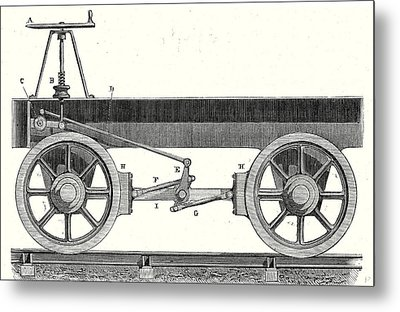Brake Of A Wagon Metal Print