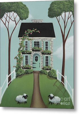 Brambleberry Cottage Metal Print by Catherine Holman