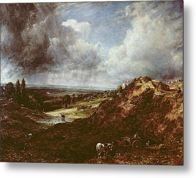 Branch Hill Pond, Hampstead Heath, 1828 Oil On Canvas Metal Print by John Constable