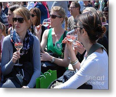 Brandenburg Wine Tasting Metal Print by Andrea Simon